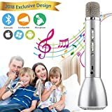 Wireless Karaoke Microphone for Kids, Portable Kids Microphone With Speaker Echo Karaoke Mic
