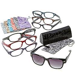 Joy Mangano Readers Reading Glasses Shades Fashionable 15-piece Smart Set +3.00 by Joy Mangano