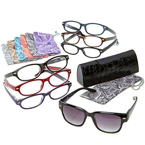 Joy Mangano Readers Reading Glasses Shades Fashionable 15-piece Smart Set - Joy's Readers Shades