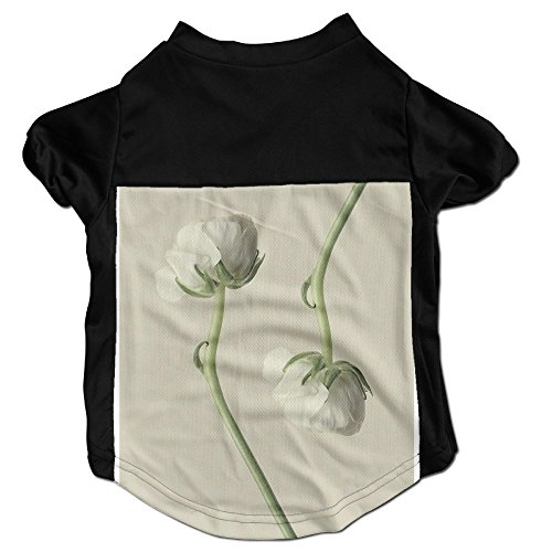 Richard Lyons Fashion Sleeveless Pet Supplies Dog Cat Clothes Aesthetic Minimalist Bouquet Meditation White Buttercups Blossom Sensual Buttercups Pet Apparel Clothing L - Buttercup Bouquet