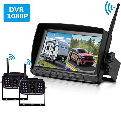 FHD 1080P Digital Wireless Dual Backup Camera 7