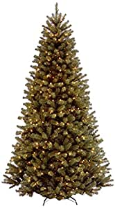 National Tree 9 Foot Hinged North Valley Spruce Tree with 700 Clear Lights, CSA (NRV7-300C-90)
