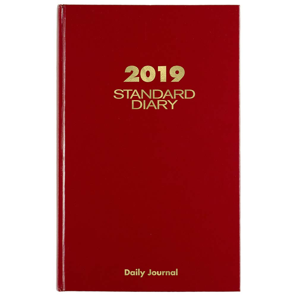 AT-A-GLANCE 2019 Daily Diary / Address Book, 7-11/16'' x 12-1/8'', Large, Red (SD37713)