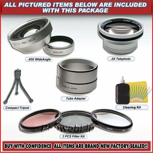 0.45x Lens & Filter Kit Fit Canon Powershot G2 G1 New (G2 Powershot Lens)