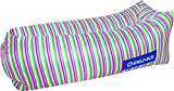 Inflatable Lounger- Premium Air Mattress Sofa Bed- For Indoors & Outdoors-Camping,Hiking,Traveling,Park,Beach-Easy To Inflate- Puncture Resistant & Lightweight Air Couch (Stripes)