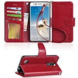 LG Aristo Case, LG Phoenix 3 Case, LG K8 2017 Case, LG Fortune Case, LG Risio 2 Case, LG Rebel 2 LTE Case, Arae LG Aristo wallet Case with Kickstand and Flip cover - Red