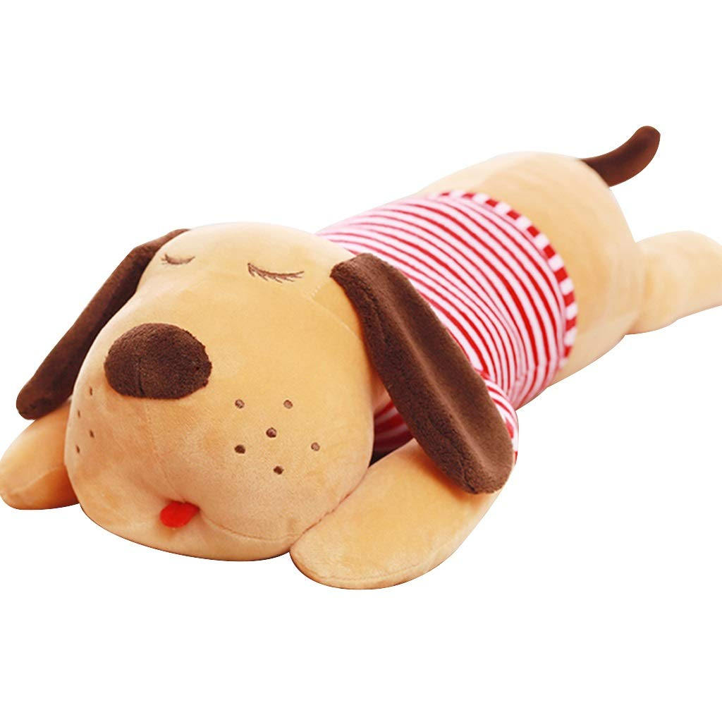 Hund Plüschtier Puppe Puppe Bett Schlafkissen Kind Komfort Spielzeug Füllung Stofftier Weißhes Kissen Voller Füllung, Weißhe Haut, Keine Fusseln (Farbe   braun, Größe   150cm) braun 110cm