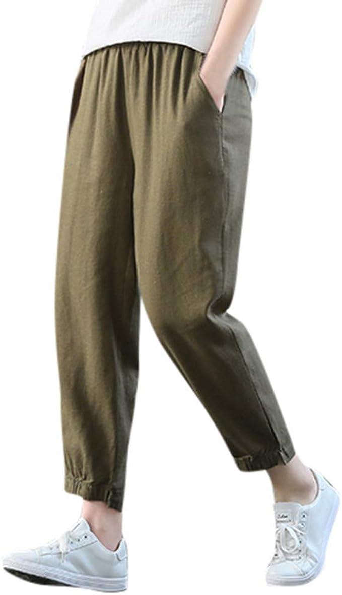 cinnamou Pantalones Mujer, Casual Pantalones Chinos Color SóLido ...