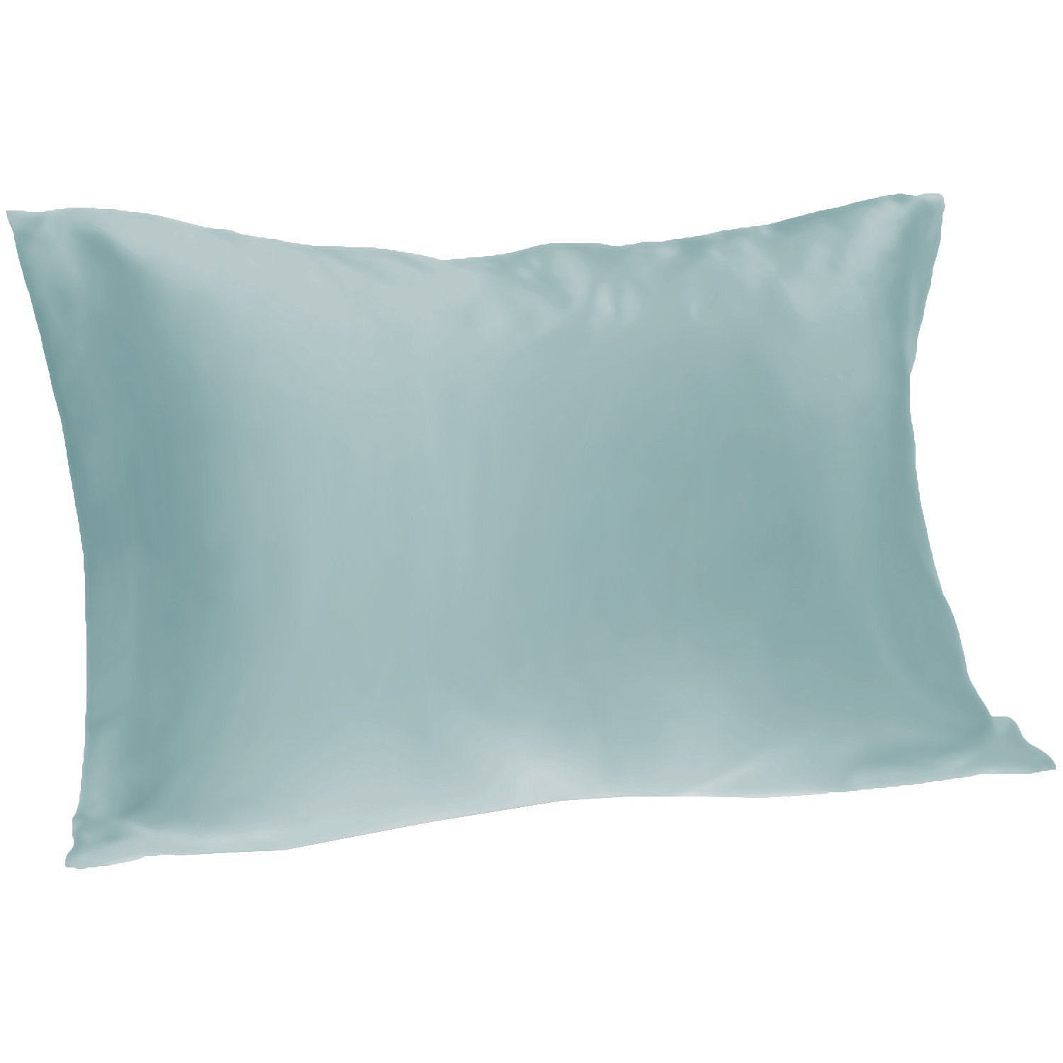 Spasilk 100 Percent Silky Satin Hair Beauty Pillowcase, Standard/Queen, Light Blue by Spasilk