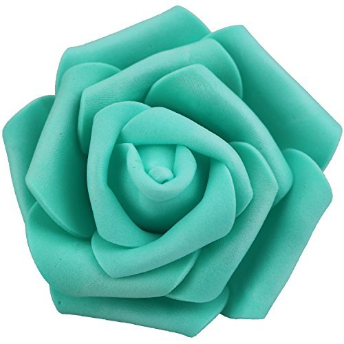 Lightingsky 7cm DIY Real Touch 3D Artificial Foam Rose Head Without Stem for Wedding Party Home Decoration (100pcs, ()