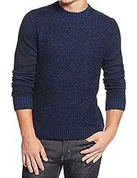 Men's Marled Crew-Neck Sweater Hyper Blue