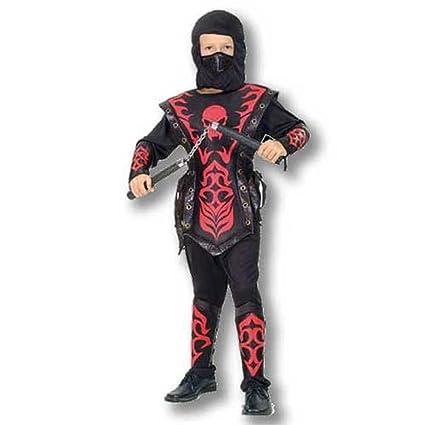 Disfraz niño Ninja Rojo - talla 4 - 6 años: Amazon.es ...