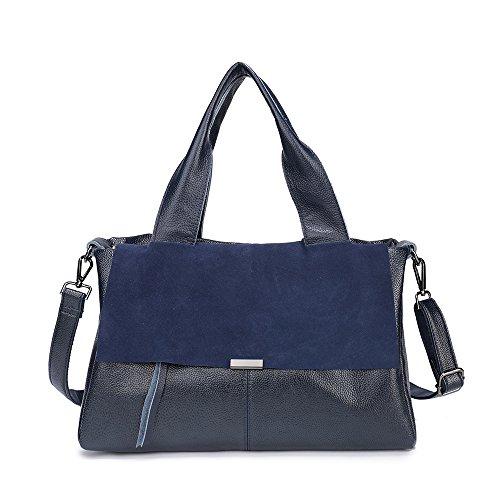 Suede Satchel Purse - Lanyani Top Handle Satchel Large Tote Purses and Handbags Leather Shoulder Bag for Women