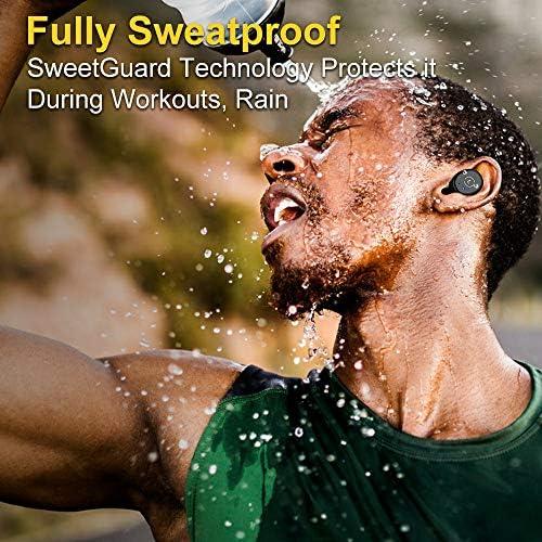 Ankbit True Wireless Bluetooth Earbuds, Upgraded Bluetooth 5.0 Sport Sports TWS Stereo Headphones in Ear Build in Mic IPX6 Waterproof for Workout, Running 51XD3pa5SUL