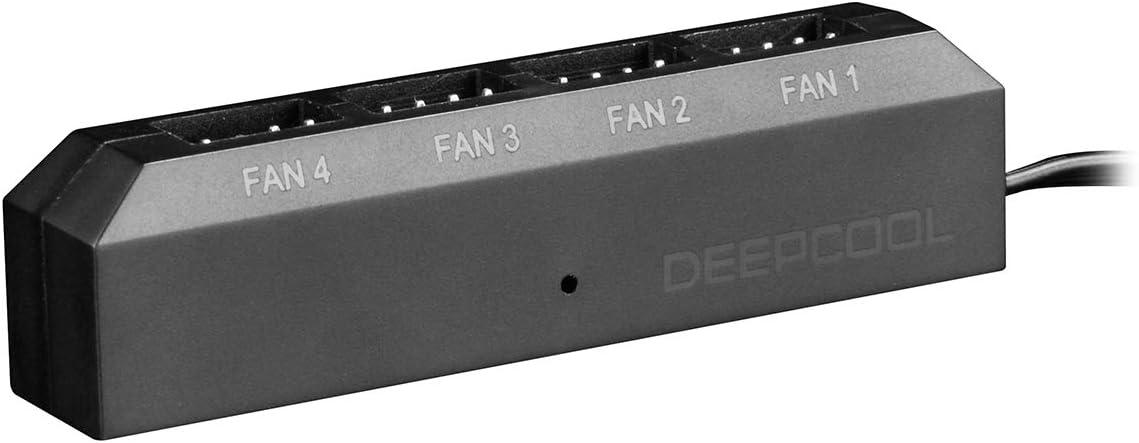 DeepCool Fan Hub Control 4PWM Fan Speed Supports Fan with 3Pin/4Pin Cooling FH-04