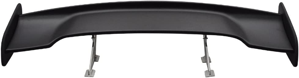 Matte Black ABS Spoiler Wing Lid Tail Deck by IKON MOTORSPORTS Trunk Spoiler Compatible With Universal Cars