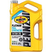 Pennzoil 550046122 Platinum 5 quart 5W-20 Full Synthetic Motor Oil (SN/GF-5 jug)
