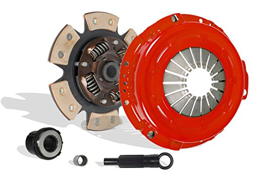Clutch Kit Works With Ford Ranger Aerostar Bronco II Base XL XLT S STX 1985-1987 2.0L 2.3L L4 GAS SOHC 2.8L 2.9L V6 GAS OHV Naturally Aspirated 2.3L L4 DIESEL OHV Turbocharged (6-Puck Disc Stage 2)