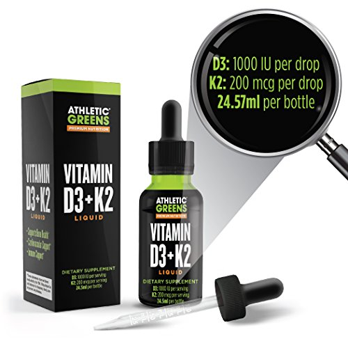 Balanced Vitamin D3 and K2 Liquid Formula From Athletic Greens 24.5 ml