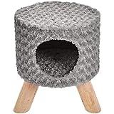 AmazonBasics Indoor Cat Bed Condo Ottoman - 15 x 17 Inches, Grey