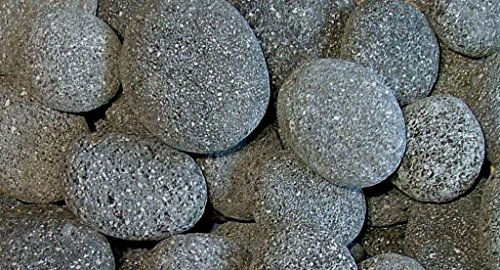 Lava Stone Planter (BLACK LAVA BEACH PEBBLES - 2 to 4 Inches - 35 Pounds - Natural Rocks for Fire Pits and to Accent Indoor and Outdoor Gardens, Ponds, Fountains, Arts and Crafts, Protect Plants, Block Weeds)
