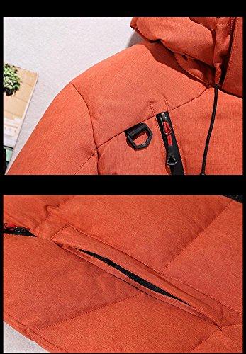 Cappuccio Della Di Corto Degli Ispessimento Casuale Lampo Con Arancione Slim Uomini Traspirante 2xl Chiusura Cappotto M Fit Piumino Caldo Outwear Inverno Antivento rzEdzw8xXq