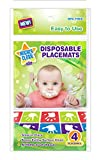 Mighty Clean Baby Disposable Placemat 60 Count Value Pack (15 packages of 4 placemats each)