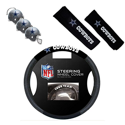 Official National Football League Fan Shop Authentic Auto Accessories Bundle (Dallas Cowboys)