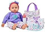 14″ Baby Doll Travel Carry Case Set, Adorable Doll comes Dressed in Clothes, Diaper and Headband, includes Baby Doll Diaper Bag Set, Extra Jacket, Bib, and Milk Bottle Accessories Reviews