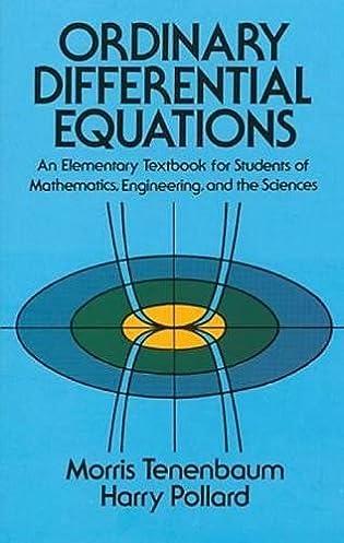 ordinary differential equations dover books on mathematics morris rh amazon com Ordinary Differential Equations Textbook Ordinary Differential Equations Logo