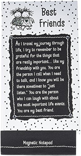 Blue Mountain Arts Magnetic Notepad, Best Friends by Marc...