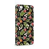 Tropical Pineapple, Hibiscus Flowers & Tropical Jungle Pattern Plastic Phone Snap On Back Cover Shell For iPhone 5 & iPhone 5s & iPhone SE