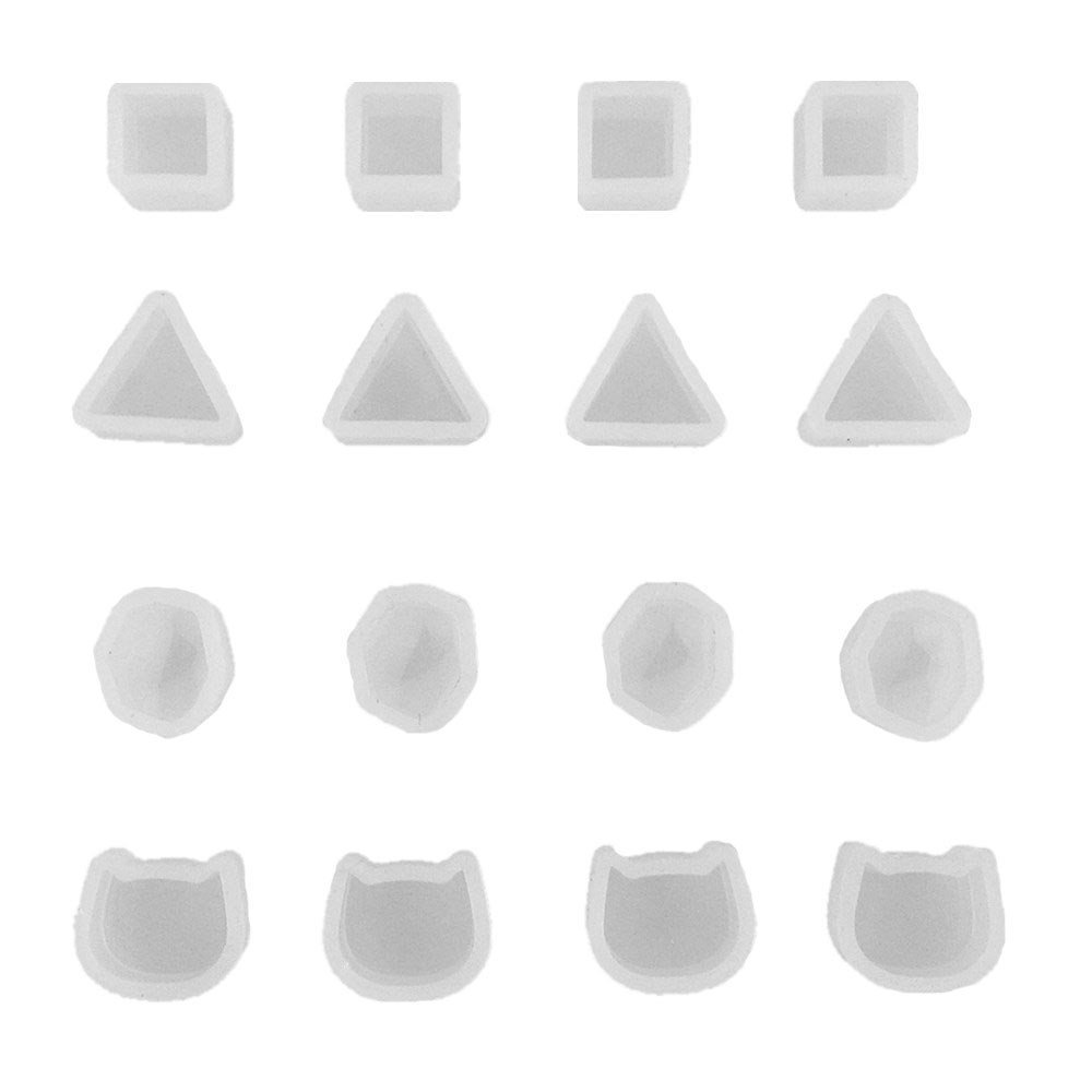 Honbay 16pcs Tiny Silicone Jewelry Earring Necklace Pendant Mold Casting Mould Jewelry Making DIY Craft Tool