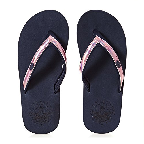 Animal Flip Flops Swish Slim Flip Flops - Dark Navy