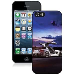Fashionable Custom Designed iPhone 5S Phone Case With Mercedes SLS AMG Coupe Black Series_Black Phone Case