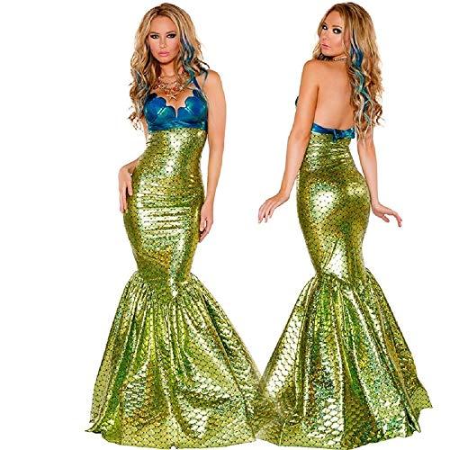 Women Mermaid Costume Halloween Cosplay Mermaid Dress Romantic