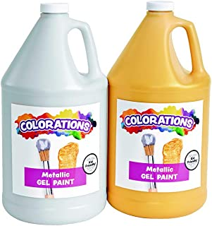 product image for Colorations Metallic Gel Paint Gallon - Set of 2, Silver & Gold (Item # MGCAPSET)