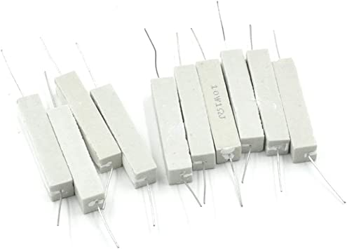 uxcell 10W 15 Ohm Power Resistor Ceramic Cement Resistor Axial Lead 5 Pcs White