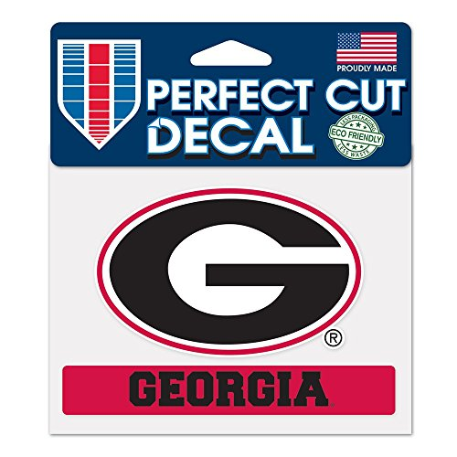 WinCraft NCAA University of Georgia WCR37550014 Perfect Cut Color Decal, 4.5