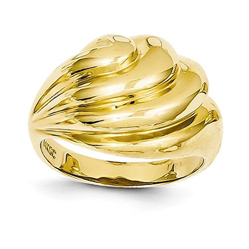 (Jewelry Adviser Rings 14k Polished Swirl Dome Ring )