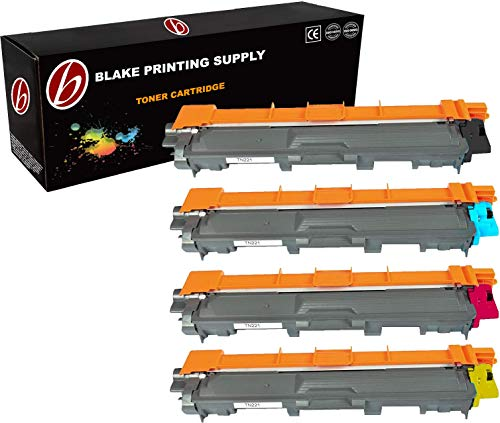 Brother Compatible High Capacity 4 PACK TN221 / TN225 TN221BK, TN221C, TN221M, TN221Y, TN225C, TN225M, TN225Y Black, Cyan, Magenta, Yellow Toner Cartridge Compatible with BROTHER HL-3140CW, HL-3170CDW