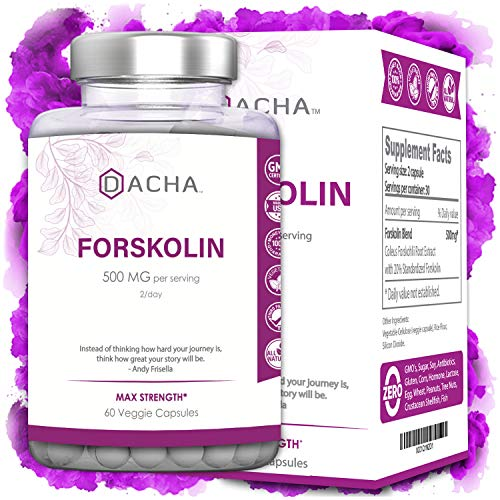 DACHA Nutrition Premium Forskolin Extract - Keto Diet Pills That Work Fast for Women & Men, Pure Rapid Tone, All Natural Coleus Forskohlii 500mg, Made in USA, Luna Trim Advanced Dietary Supplement