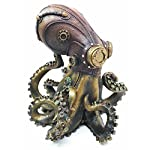 "Ebros Steampunk Giant Kraken Octopus Marauder Statue 5.5"" Tall Deep Sea Military Cephalopod Unit Figurine Decor for Sci Fi Fantasy Lovers 4"
