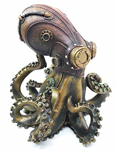 "Ebros Steampunk Giant Kraken Octopus Marauder Statue 5.5"" Tall Deep Sea Military Cephalopod Unit Figurine Decor for Sci Fi Fantasy Lovers 3"