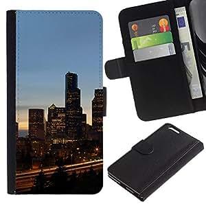All Phone Most Case / Oferta Especial Cáscara Funda de cuero Monedero Cubierta de proteccion Caso / Wallet Case for Apple Iphone 6 PLUS 5.5 // Chicago City