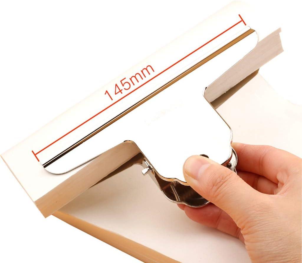 12 cm cerniere in metallo clip di carta in metallo POFET 5 clip grandi per bulldog cerniere in acciaio inox per ufficio