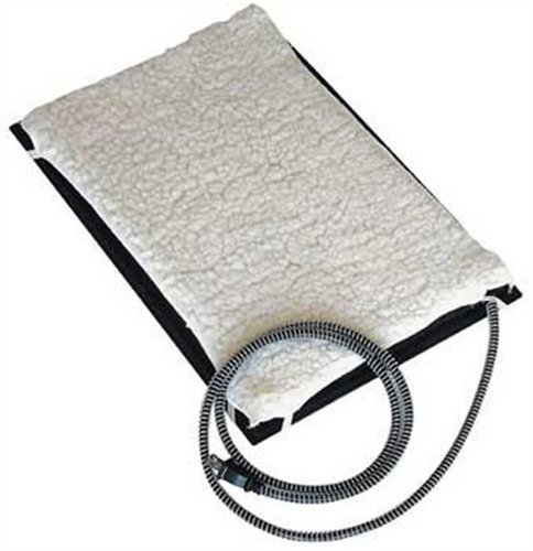 Farm Innovators Model HM-60S Small 13-Inch by 19-Inch Plastic Heated Pet Mat with Fleece Cover, 60-Watt by Farm Innovators