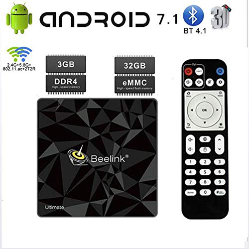 KGAYUC TV Box, Android 7.1 Bluetooth 4.1 Smart TV Box 3GB RAM / 32GB ROM S912 Quad Core Support 2.4/5.8Ghz Wifi 4K HDMI…
