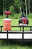 Open Trailer Rack System by Pack'em Racks - Backpack Blower, Cooler & Trim line Holder - PK-OP1/BM