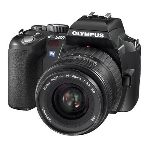 1552fae5b Amazon.com   Olympus Evolt E500 8MP Digital SLR with 14-45mm f 3.5-5.6    40-150mm f 3.5-4.5 Zuiko Lenses   Slr Digital Cameras   Camera   Photo
